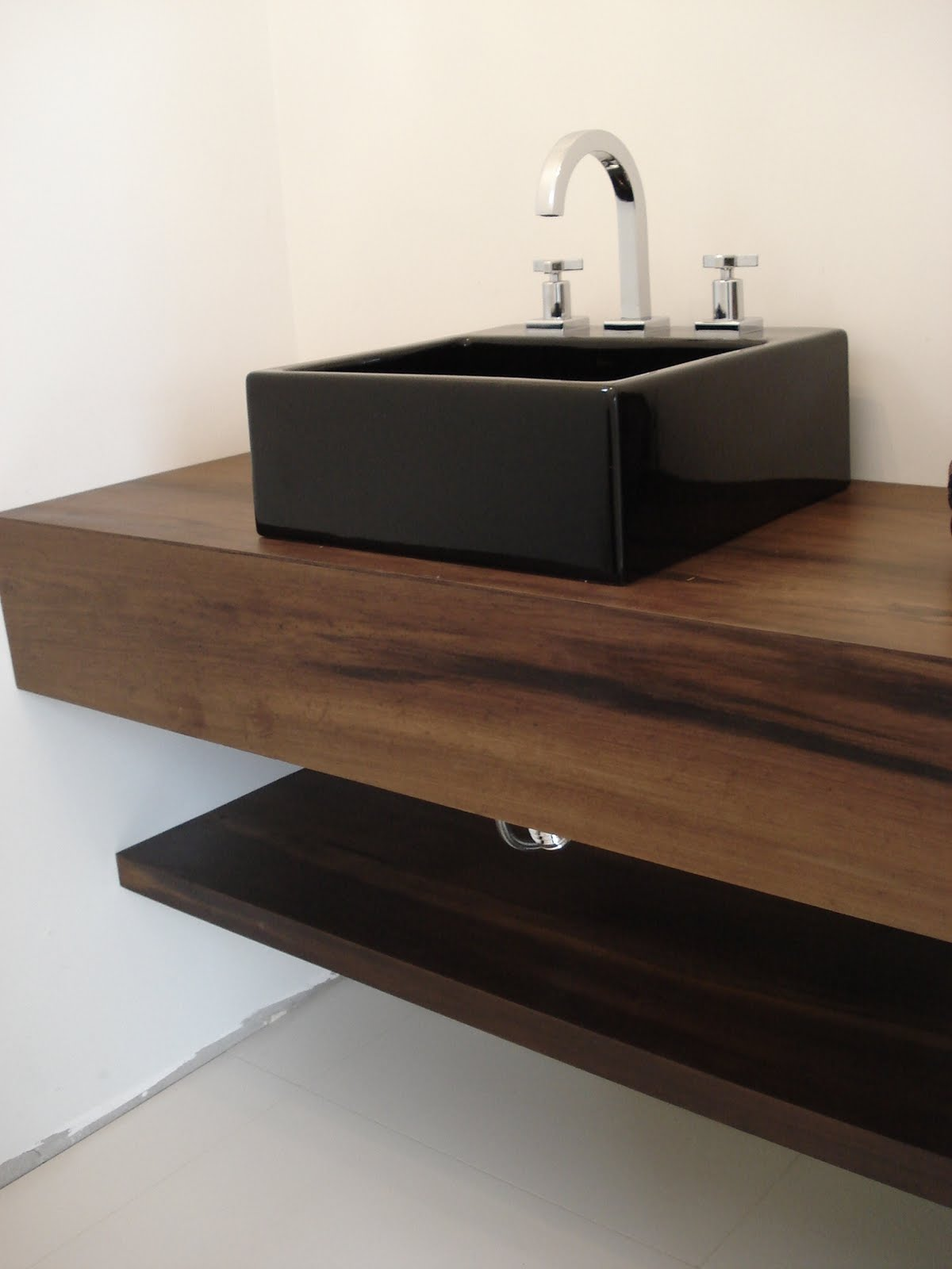 Casa de Maria Organic Design Lavabo e Madeira -> Cuba Para Banheiro Paraguai