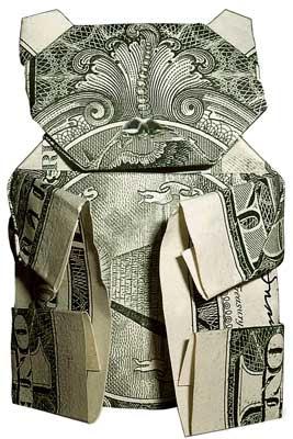 image bear money unique origami
