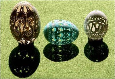 Laser Engraved Carved Eggs
