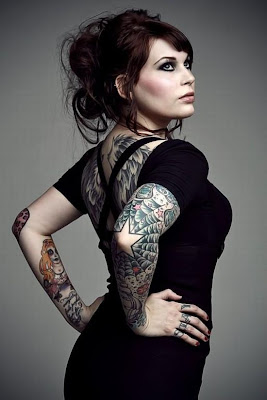Sexy Girl With Tattoos Fantastic