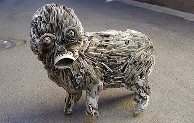 Newspaper Sculptures