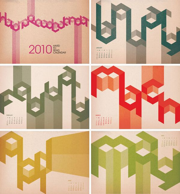 Unusual Calendar Design : Unusual and creative calendar designs likepage