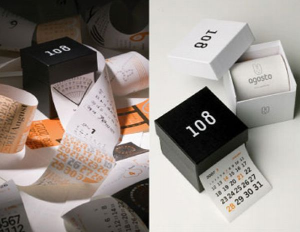 Unusual Calendar Design : Best photos unusual and creative calendar designs