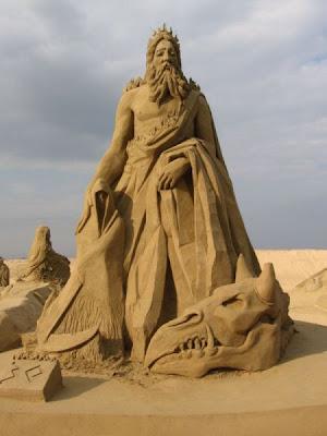 melhores esculturas do mundo na praia