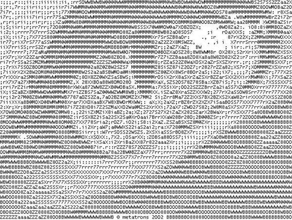 One Line Text Art Cat : Typewriter and ascii art
