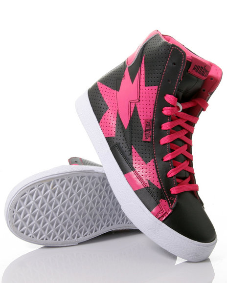 Punkrose KABOOM HI TOPS Just what IS it with me, lightnings and pink and