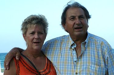 My dad and stepmother at my son's wedding in 2008