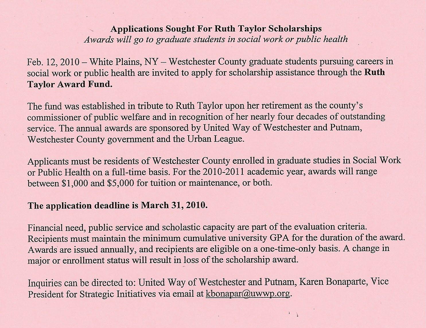 Deans scholarship essay
