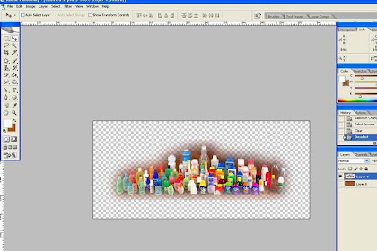 Creating an image blend with the background