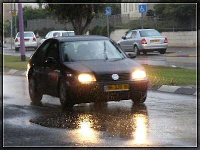 дождь, машина