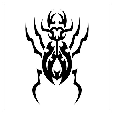 Tribal Tattoo Spider Desing
