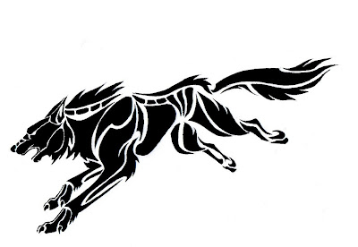wolf Tribal Tattoo Design