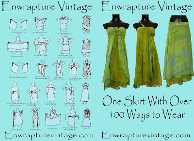 How to tie your Enwraptue Vintage Magic Indian Silk Wrap Skirt