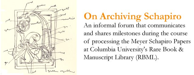 On Archiving Schapiro