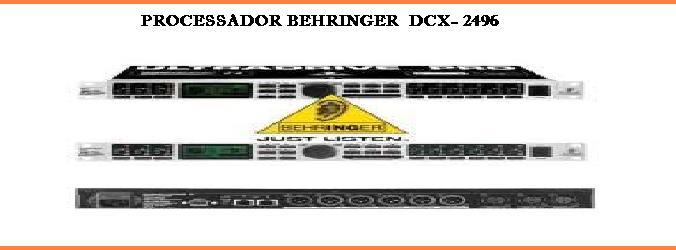 PROCESSSADOR BEHRINGER  DCX- 2496