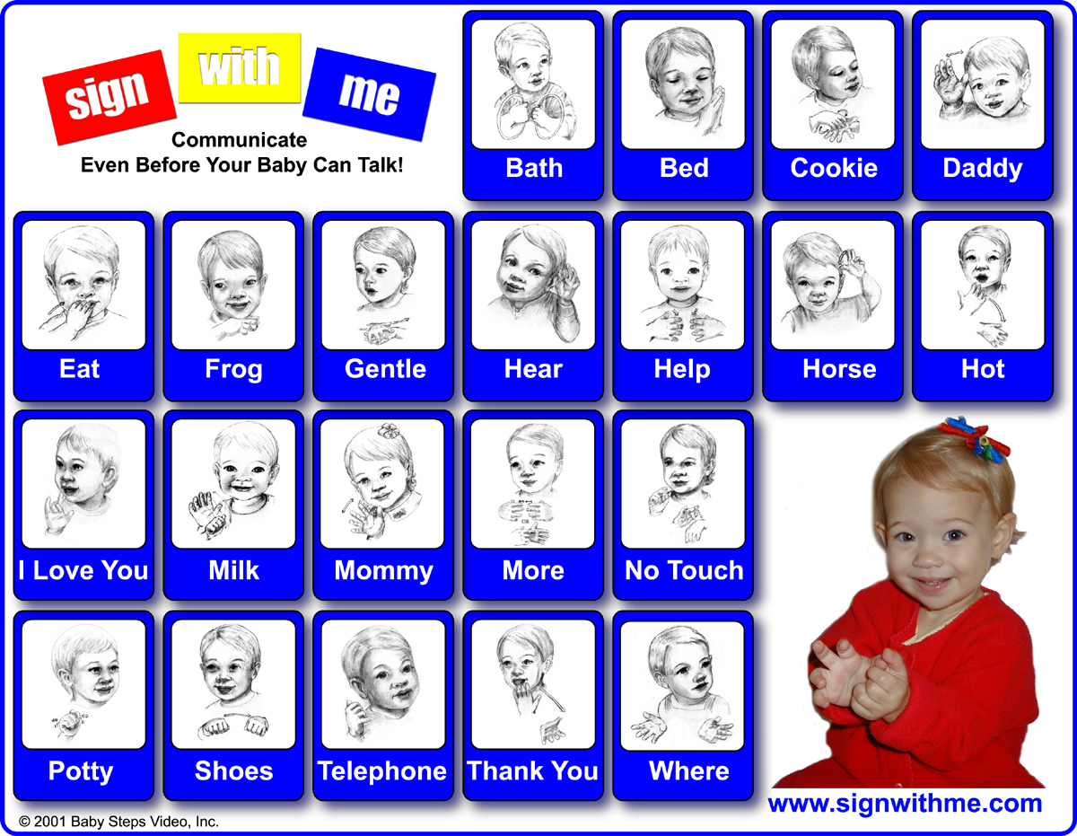 How do babies learn sign language