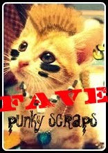 I am a DT favorite at Punky Scraps!!!!