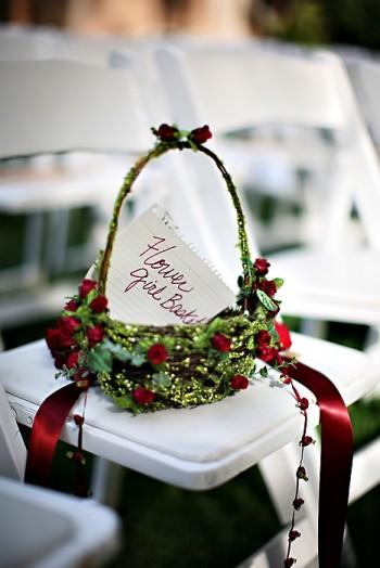 Eyestigmatic design wedding ideas flower girl baskets a more traditional basket of flowers mightylinksfo