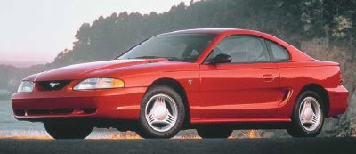 At $13,365, the base-model 1994 Ford Mustang coupe had a V-6 and