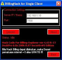 Cara Hack Billing Warnet Dengan BillHack