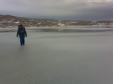 Walking on 16m deep frozen lake