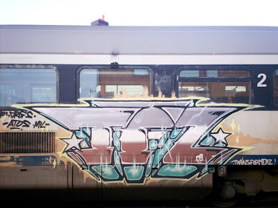 train graffiti artist TFZ