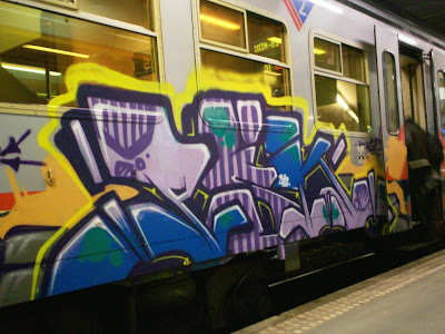 Amer train graffiti