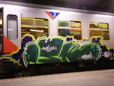 PSK Zolk train graffiti