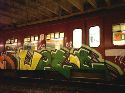 Wett train graffiti