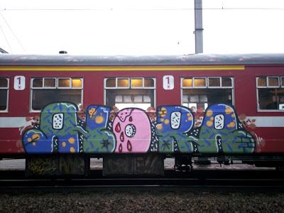 Alora Malaga train graffiti