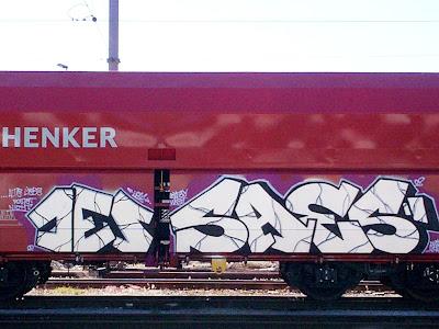 jes saes - freight train graffiti