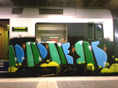 odes graffiti train