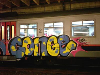 conge graffiti train
