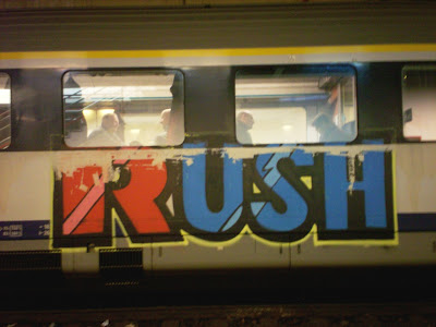 Rush crew graffiti on trains