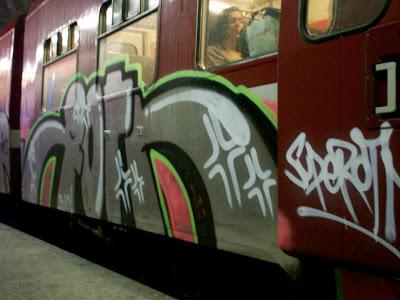 Roten graffiti