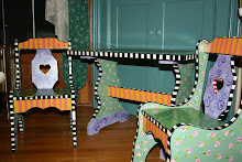 """Gingerbread Cottage"" Kids' Table/Chair Set (chalkboard top)"