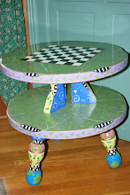 Hand-crafted Vintage Maple Table - Now for Chess/Checkers/Conversations