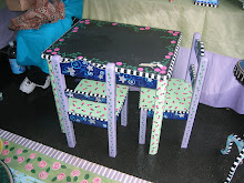 Childs' Chalkboard Table and Chairs