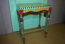 """Party-Time"" Side Table  (Inspired by a Mackenzie-Childs table - click on image for a link to the o"