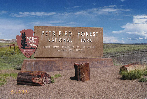 Petrified Forest National Park. With one of the world's largest and most