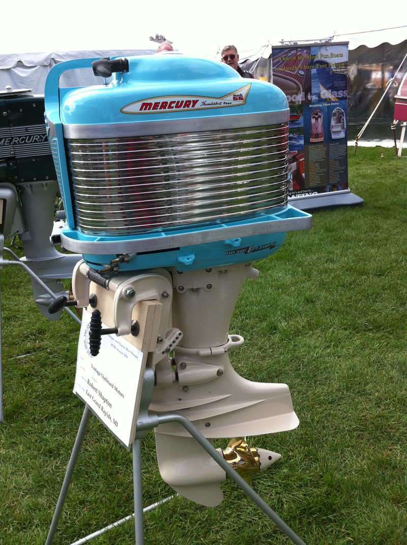 Dang live from the acbs international show at bay harbor for Vintage mercury outboard motors