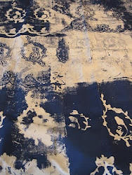 Lace:  positive and negative print on fabric