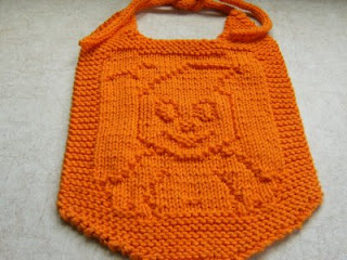 Preview This Free Knitting Pattern: Boo Baby Bib