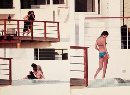 Justin Bieber y Selena Gómez, a punto de fundirse en un beso romántico