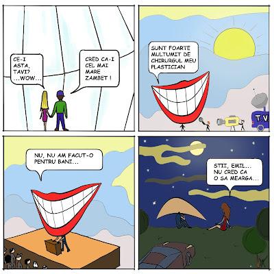 comic cartoon benzi desenate cel mai mare zambet din lume ajutat de chirurgie plastica