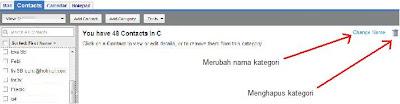 Merubah nama kategori pada email