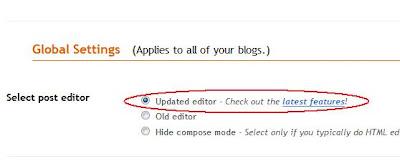 Cara mengaktifkan new post editor
