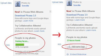 Cara membuat name tags di Picasa Web Albums