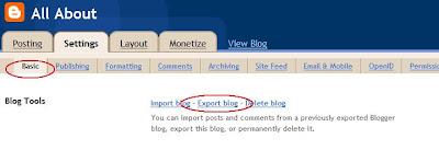 cara backup blog anda
