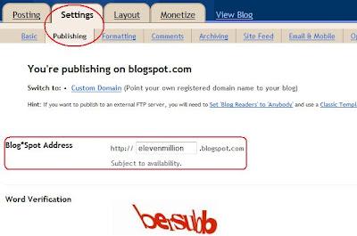 Cara merubah nama URL blog di Blogger